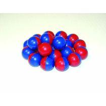 Kugelmagnet kunststoffumhüllt, rot/blau (15 mm), 20 Stück