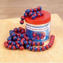 Kugelmagnet kunststoffumhüllt, rot/blau (15 mm), 100 Stück