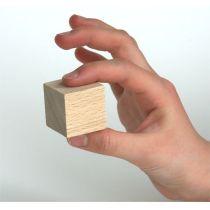 Würfel Buche natur vollkantig 30mm