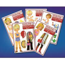 Schreiber-Bogen Ankleide-Puppen, Set 2