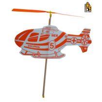 Hubschrauber mit Gummi-Motor
