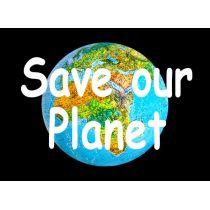 "Effekt-Postkarte 3D: ""Save our Planet"""