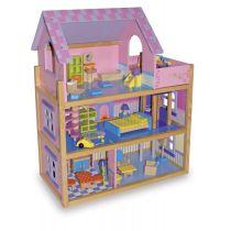 Puppenhaus Rosa 3 Etagen mit Fahrstuhl