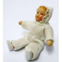 Baby Carina Puppen für Puppenhaus Miniaturen 1:12