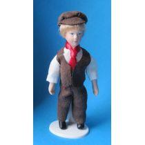 Junge mit Mütze für Puppenhaus Miniaturen 1:12