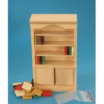 Bücherschrank Naturholz  Puppenhaus Möbel Miniaturen 1:12