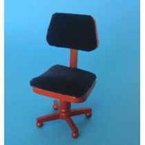 Bürostuhl braun Puppenhausmöbel Miniaturen 1:12