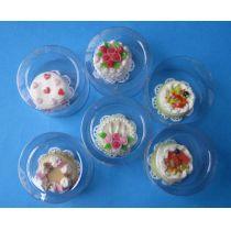 Geburtstagstorten Puppenhaus Dekorationen Miniaturen 1:12