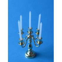 Kerzenständer Leuchter 5 armig Metall Puppenhaus Miniatur 1:12