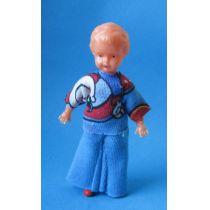 Puppe 8 cm für die Puppenstube  Miniaturen Schwenk