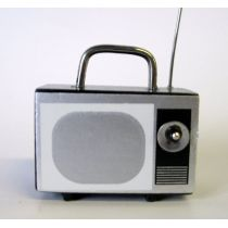Puppenhaus TV Gerät Kofferfernseher Nostalgie Puppenhausmöbel Miniaturen 1:12