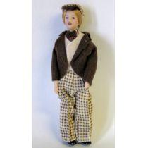 Mann mit Mütze Puppe für die Puppenstube Miniaturen 1:12