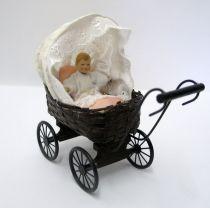 Puppenwagen geflochten Puppe Kissen Puppenhaus Miniaturen 1:12