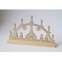 Schwibbogen unlackiert Fensterschmuck im Puppenhaus Miniaturen 1:12