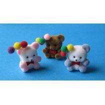 Teddybär mit Luftballon Puppenhaus Kinderzimmer Miniaturen 1:12