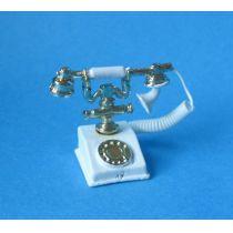 Telefon weiss Puppenhaus Miniaturen 1:12