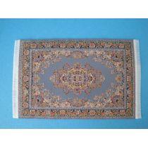 Teppich blau 13 x 8 cm Puppenhaus Miniaturen 1:12