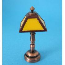 Tischlampe gelb LED Puppenhaus Beleuchtung Miniaturen 1:12