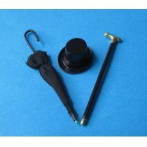 Mini Schirm Gehstock Zylinder Puppenhaus Möbel Miniaturen 1:12