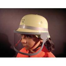 Helm - deutscher Feuerwehrhelm mit Klappvisier für Kinder