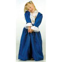 Prinzessin - Kinderkostüm - blaues Kleid - Einheitsgröße