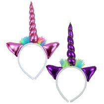 Haarreif Einhorn - rosa oder lila - Unicorn Tiara