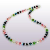 Halskette multicolor bunt aus 6mm Swarovski® Kristallperlen