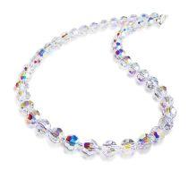 Halskette Crystal Aurora Boreale 8mm Swarovski® Kristallperlen