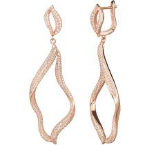 Ohrhänger 925 Silber rosegold lange elegante Ohrringe