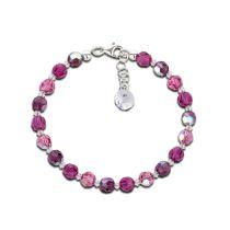 Armband fuchsia pink lila aus 6mm Swarovski® Kristallperlen