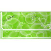Taschen-Karte mit 2 Fischen in Handarbeit hergestellt zur Konfirmation Kommunion