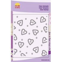 Hintergrund Clearstamp heart & buttons 12,5X15CM