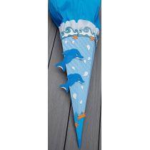 Schultüte Delphin in Handarbeit für Sie hergestellt