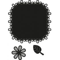 Craftables Square & flower - stitch CR1249 Marianne Design
