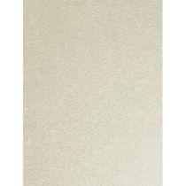 Doppelkarte DIN lang metallic,  perlweiss