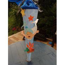 Schultüte Meerjungfrau 2 in Handarbeit für Sie hergestellt auch als Bastel-Set