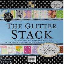 Scrapbook Paper stackPaper stack The Glitter 30,5X30,5 / 48 Bogen