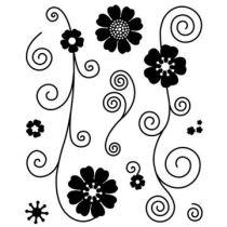 Bitsy clear stamp Jov. floral flurries