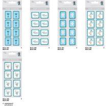 Kreativ Sticker Kreuz Serie  Glory, petrol, selbstklebend