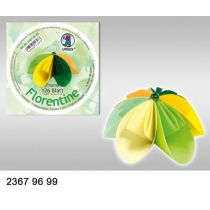 Faltblatt Origami Kusudama 10cm rund grün-mint-gelb Farbvariation