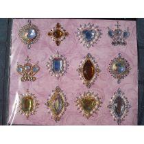 Wunderschöne Vintage Strass-Dekorsticker klassisch kristall