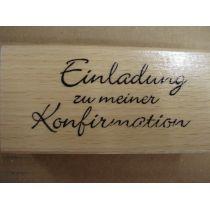 Holz Schriftstempel Einladung zu meiner Konfirmation