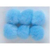 Pompoms 20, mm 50 Stück, hellblau
