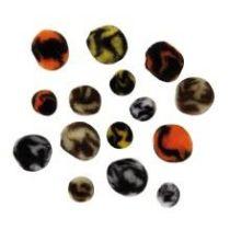Pompoms animal, 100 Stück, Farben und Größen sortiert