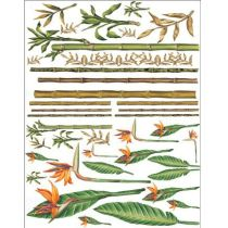 Soft-Paper 70x50cm Bamboos & Tropical Flowers