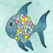 Wachsbild Regenbogenfisch  Fridolin