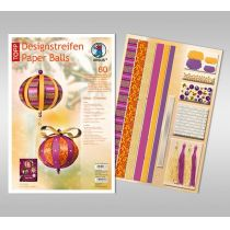 Designstreifen Paper Balls Set Magic Christmas