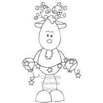 Clearstamp fairy reindeer  Rentier