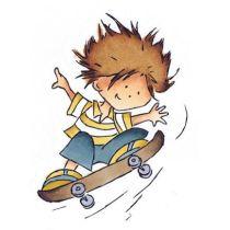 Clearstamp skater Don