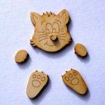 Bastel-Set Katze für Türschilder Mobiles Bilderrahmen Fotoalbum
